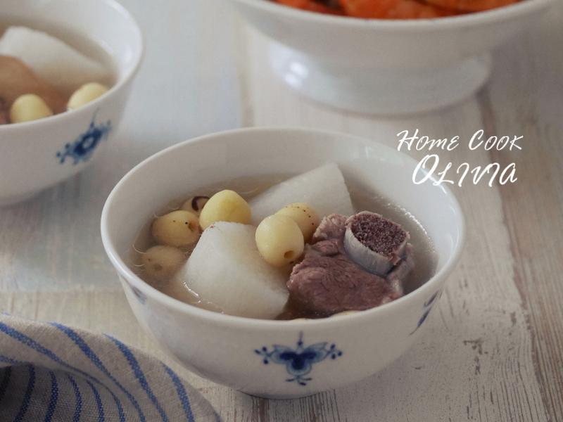 小廚娘❤山藥蓮子排骨湯#電鍋