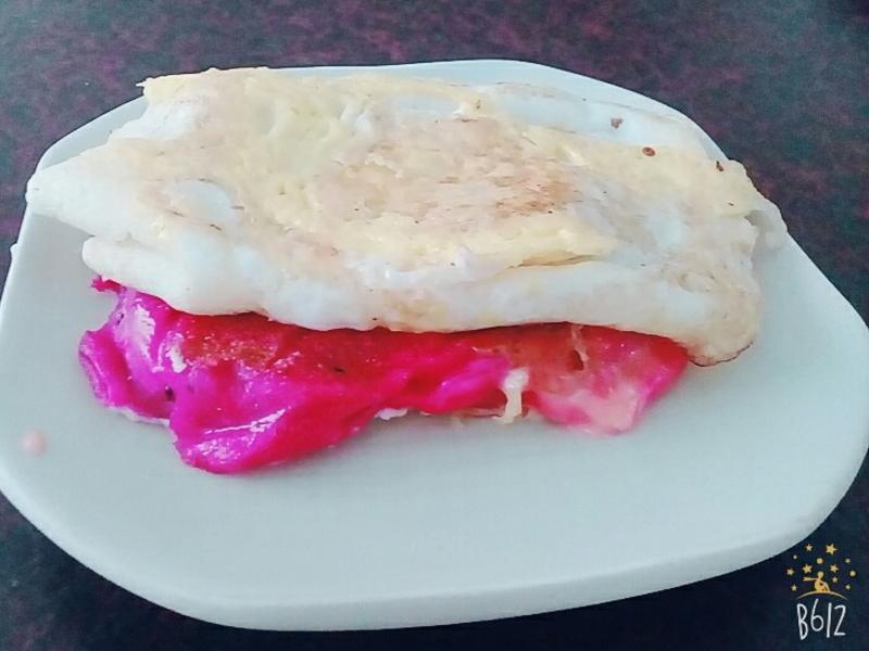 [改版蔥油餅]火龍果起司煎餅