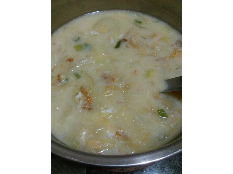 簡易青菜味噌湯