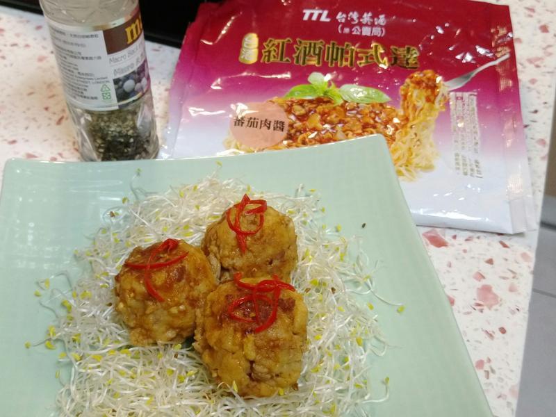 義式辣肉丸子,鹹香好下飯~【紅酒帕式達】