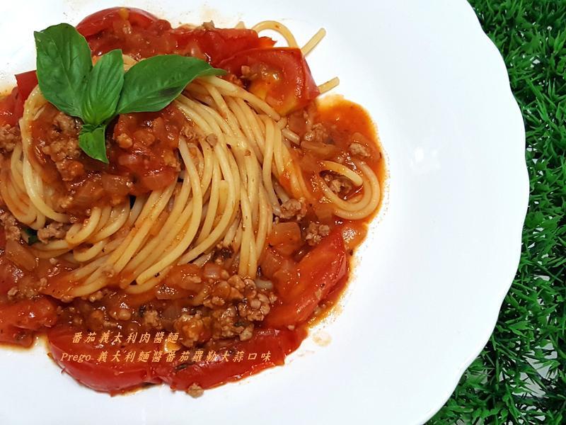 番茄義大利肉醬麵-Prego 義大利麵醬