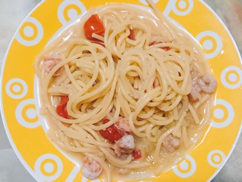 【史雲生清雞湯】一鍋鮮蝦義大利麵