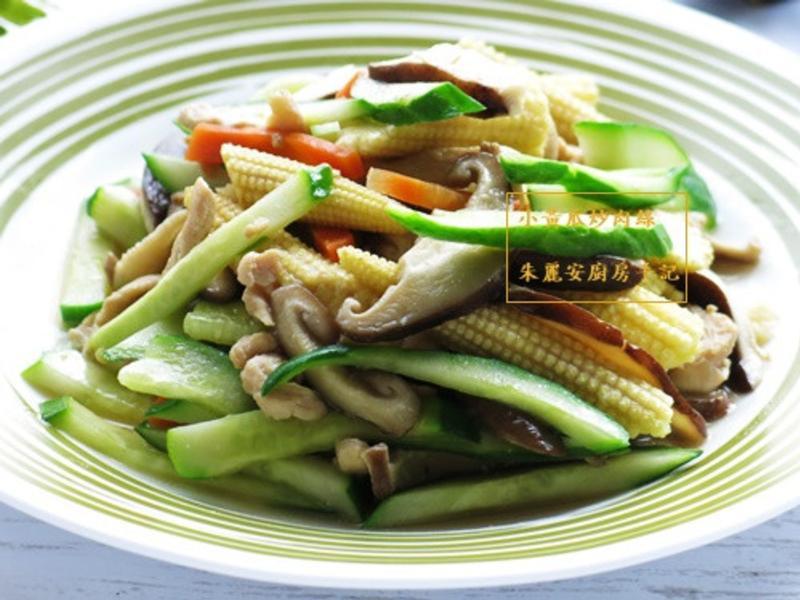[小黃瓜炒雞肉絲]簡易家常菜