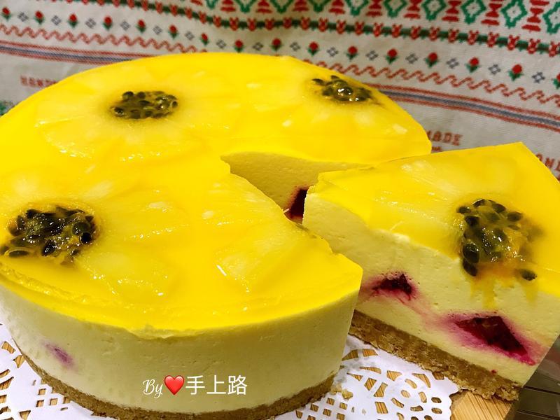 百香果太陽花乳酪蛋糕(6吋、免烤箱)