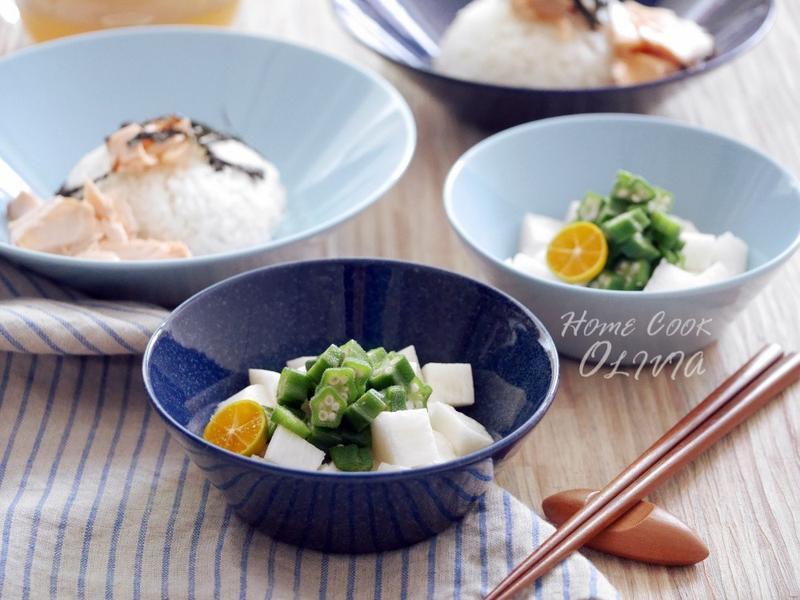 小廚娘❤涼拌秋葵山藥佐和風醋醬 #電鍋