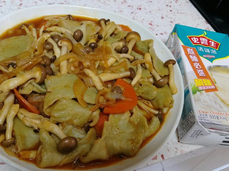 韓式炒麵疙瘩,健康,手作麵~史雲生清雞湯