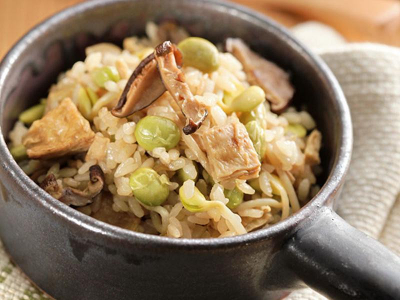 香菇豆味炊飯