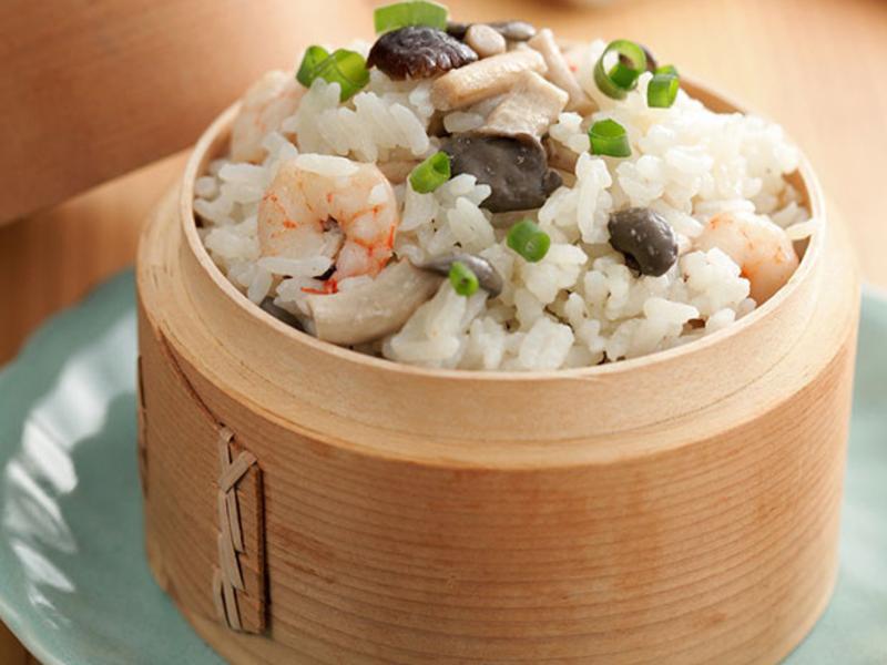 蕈菇海鮮炊飯
