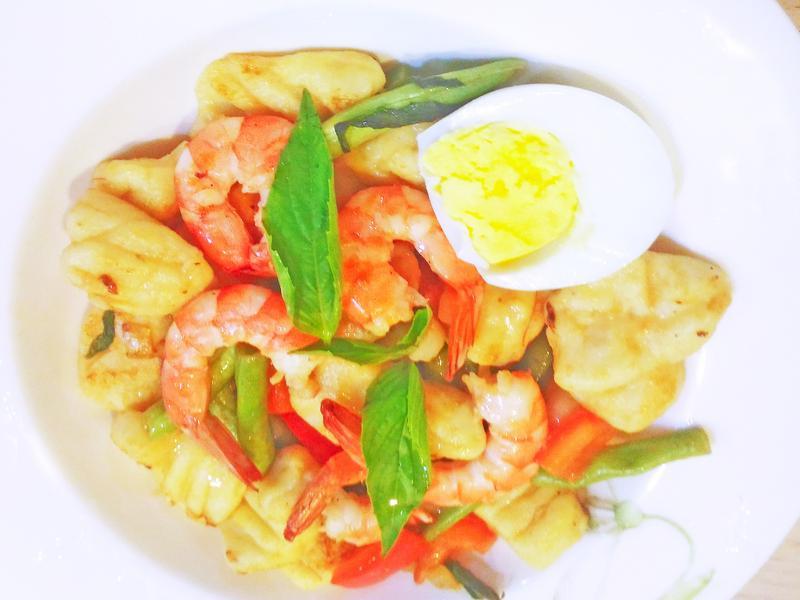 鮮蝦義式麵疙瘩