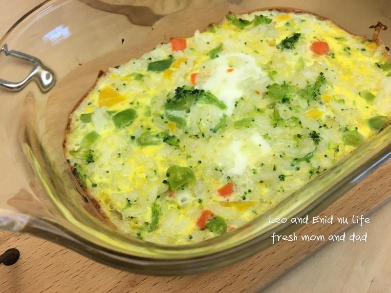 蔬菜烘蛋飯⁕烤箱·無油料理·寶寶餐寵物餐