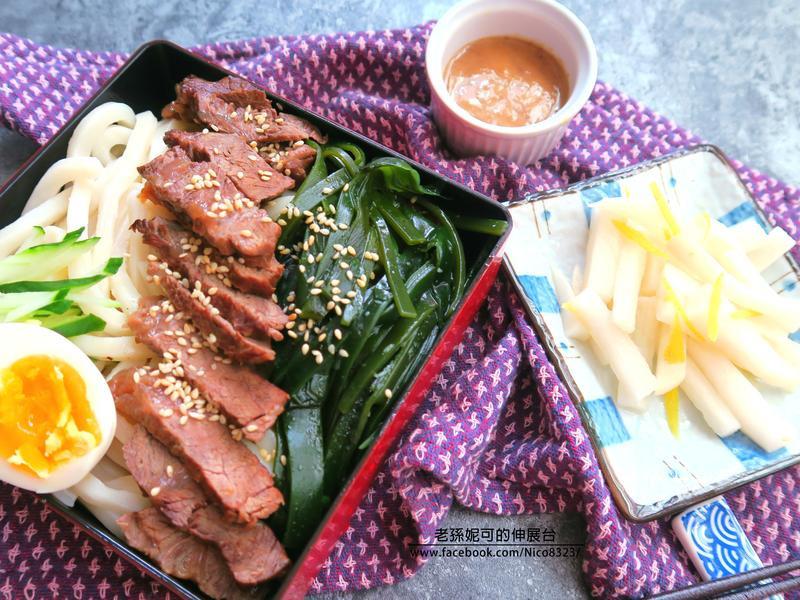 昆布牛肉冷麵(自製沾醬)