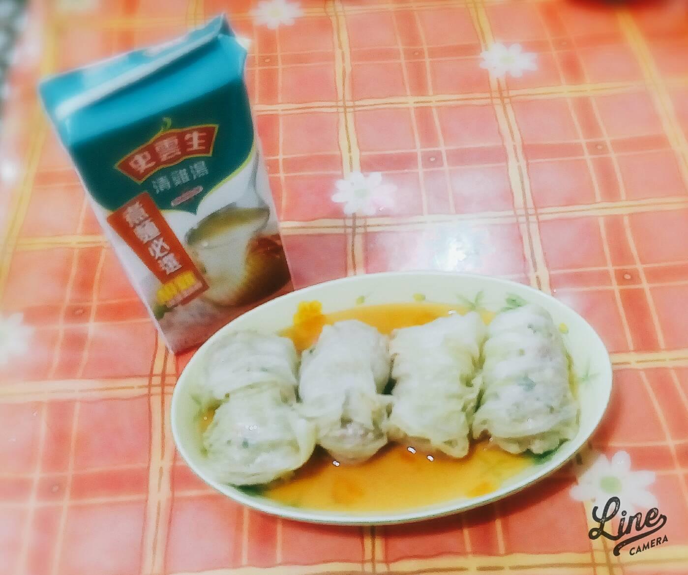 日式高麗菜捲【史雲生清雞湯】