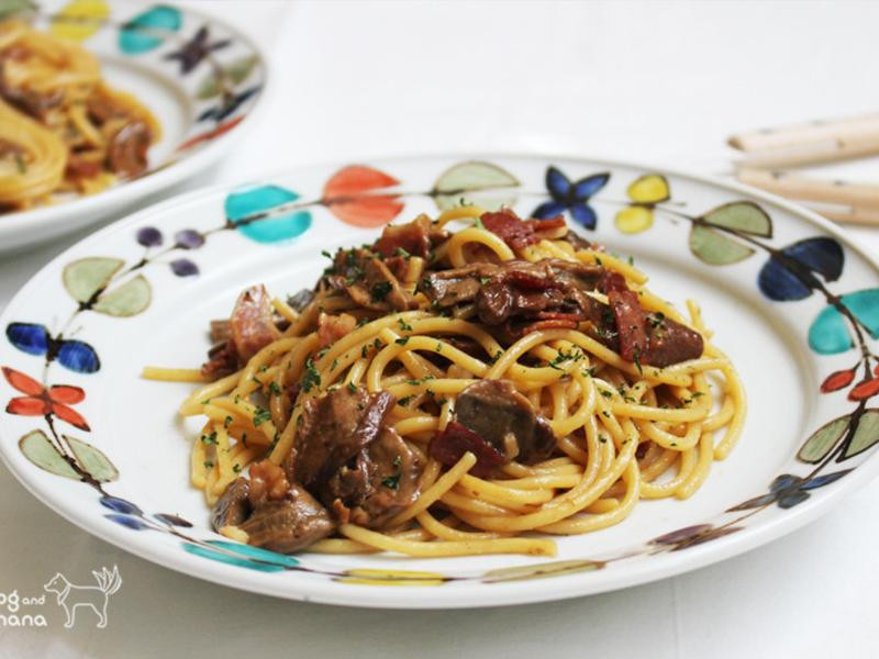 牛肝菌菇培根義大利麵