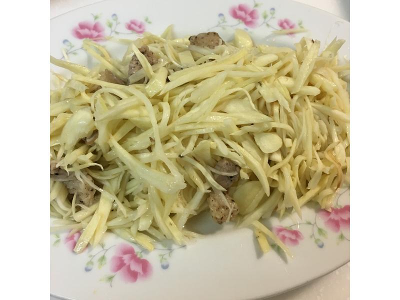 茭白筍炒肉絲