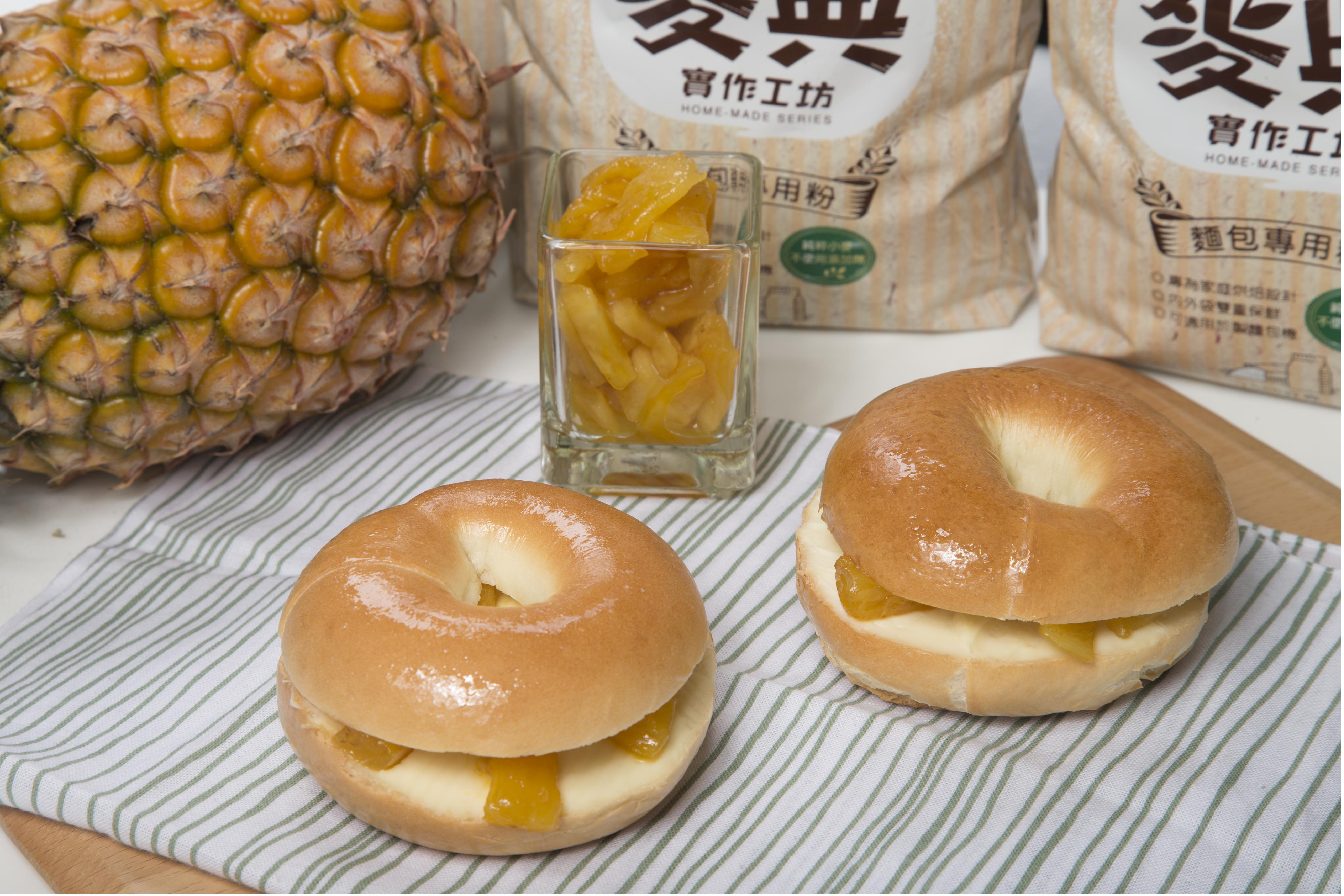 鳳梨貝果【麥典實作工坊麵包專用粉】