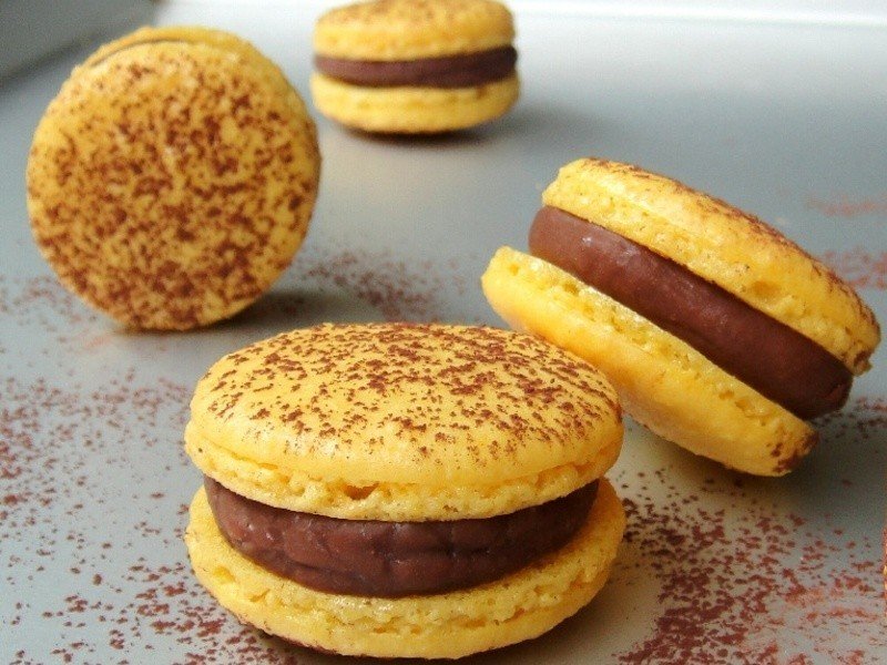 百香果馬卡龍  Passion fruit macarons