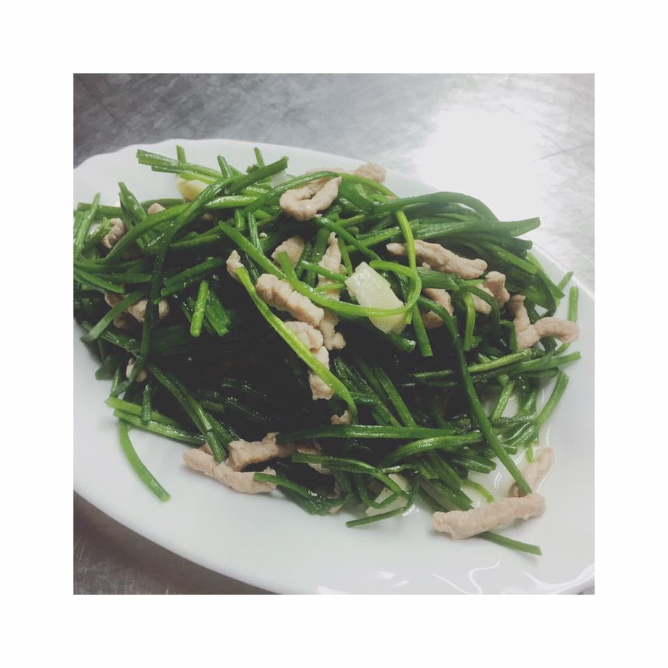 【隨興料理】水蓮炒肉絲