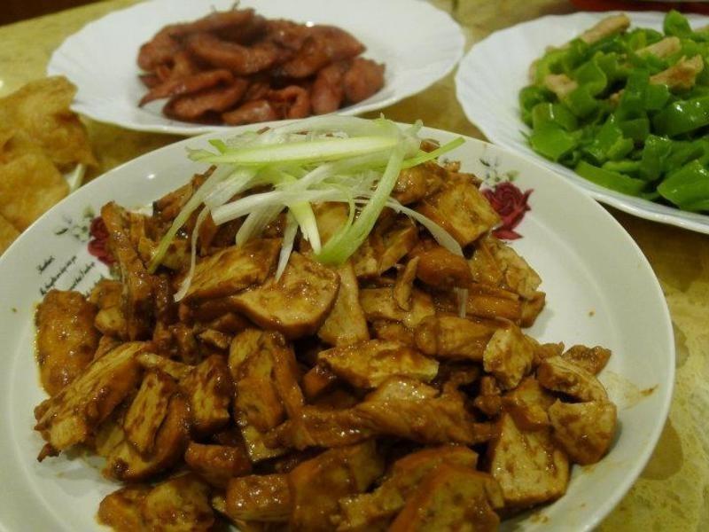 京醬豆干肉絲