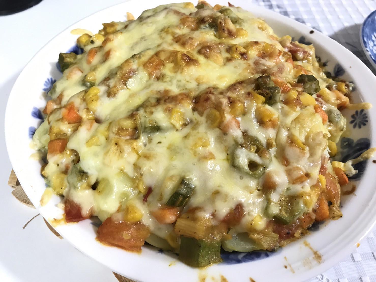 焗烤番茄咖哩馬鈴薯飯(蛋奶素)