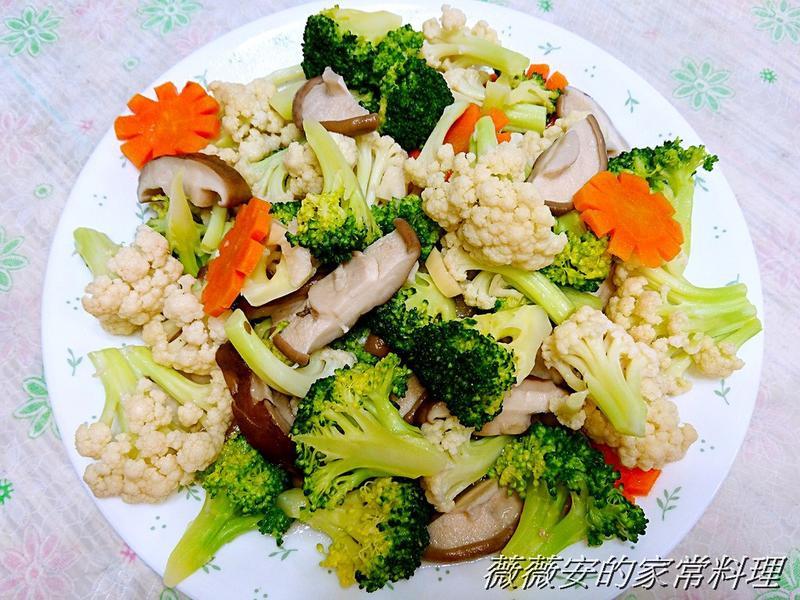 雙色花椰菜炒鮮菇