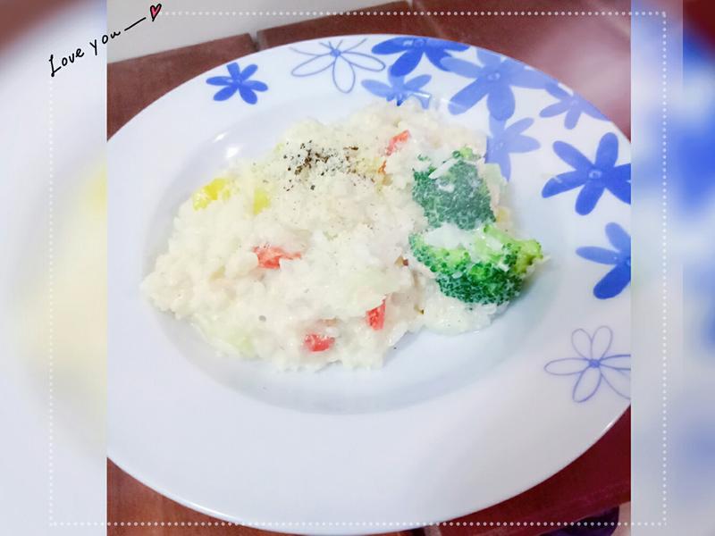 🎏奶油鮭魚燉飯❤