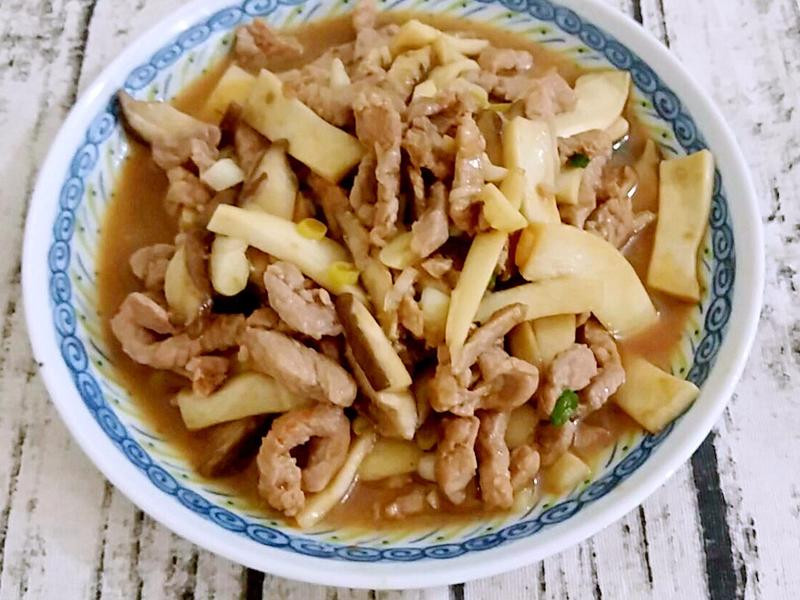 杏鮑菇炒肉絲