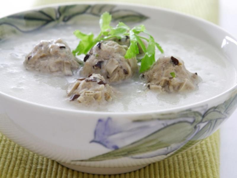 香菇丸子粥