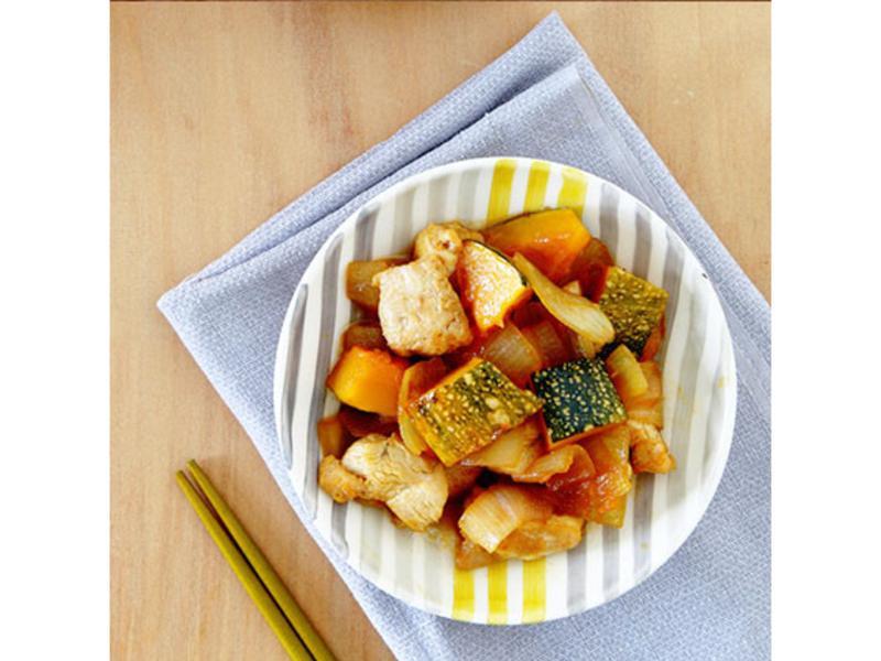 洋蔥南瓜燒雞