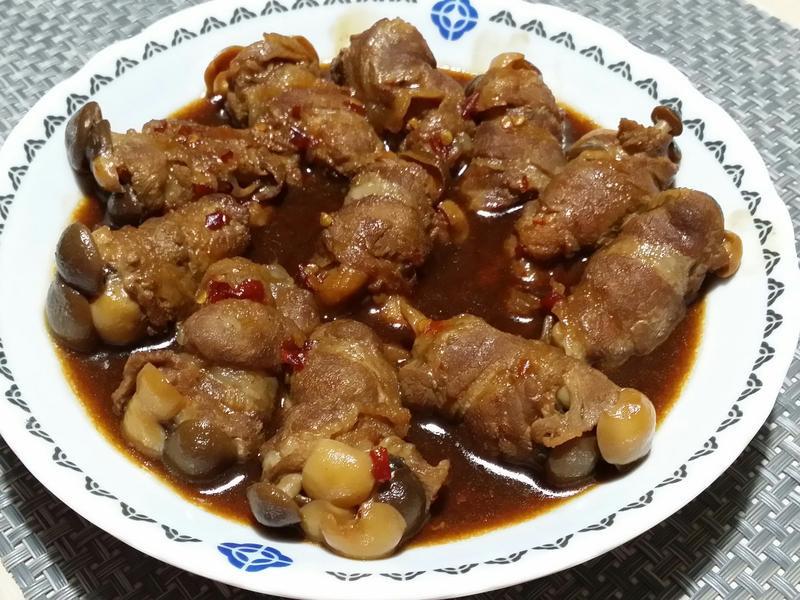 醬燒菇菇肉捲♡
