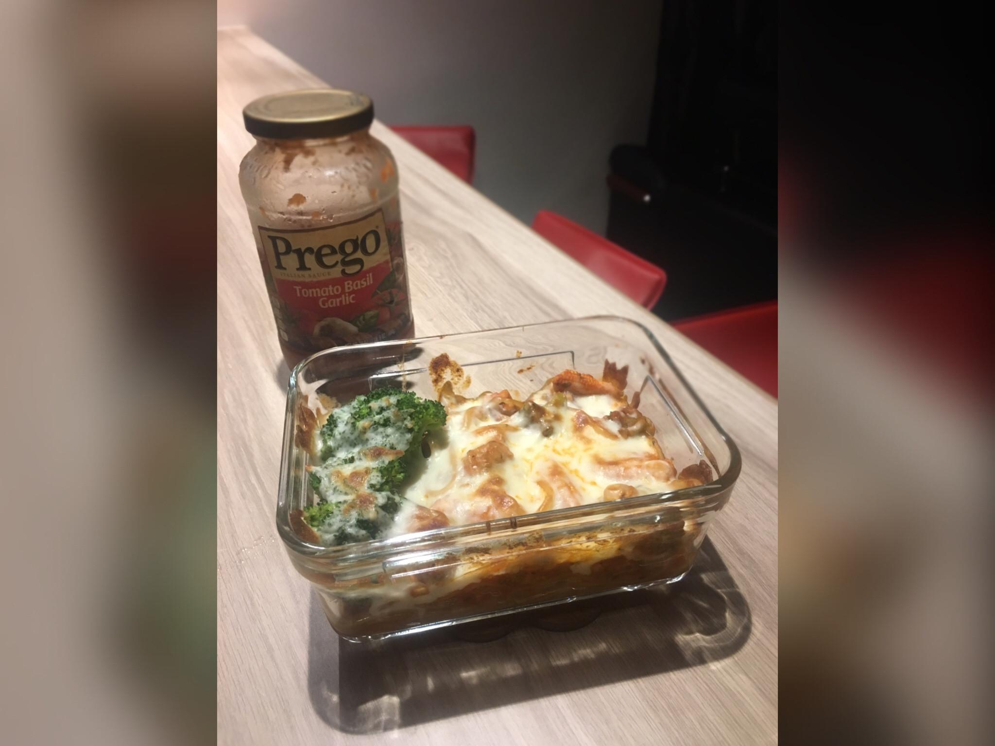 焗烤番茄羅勒大蒜雞肉 Prego義大利麵