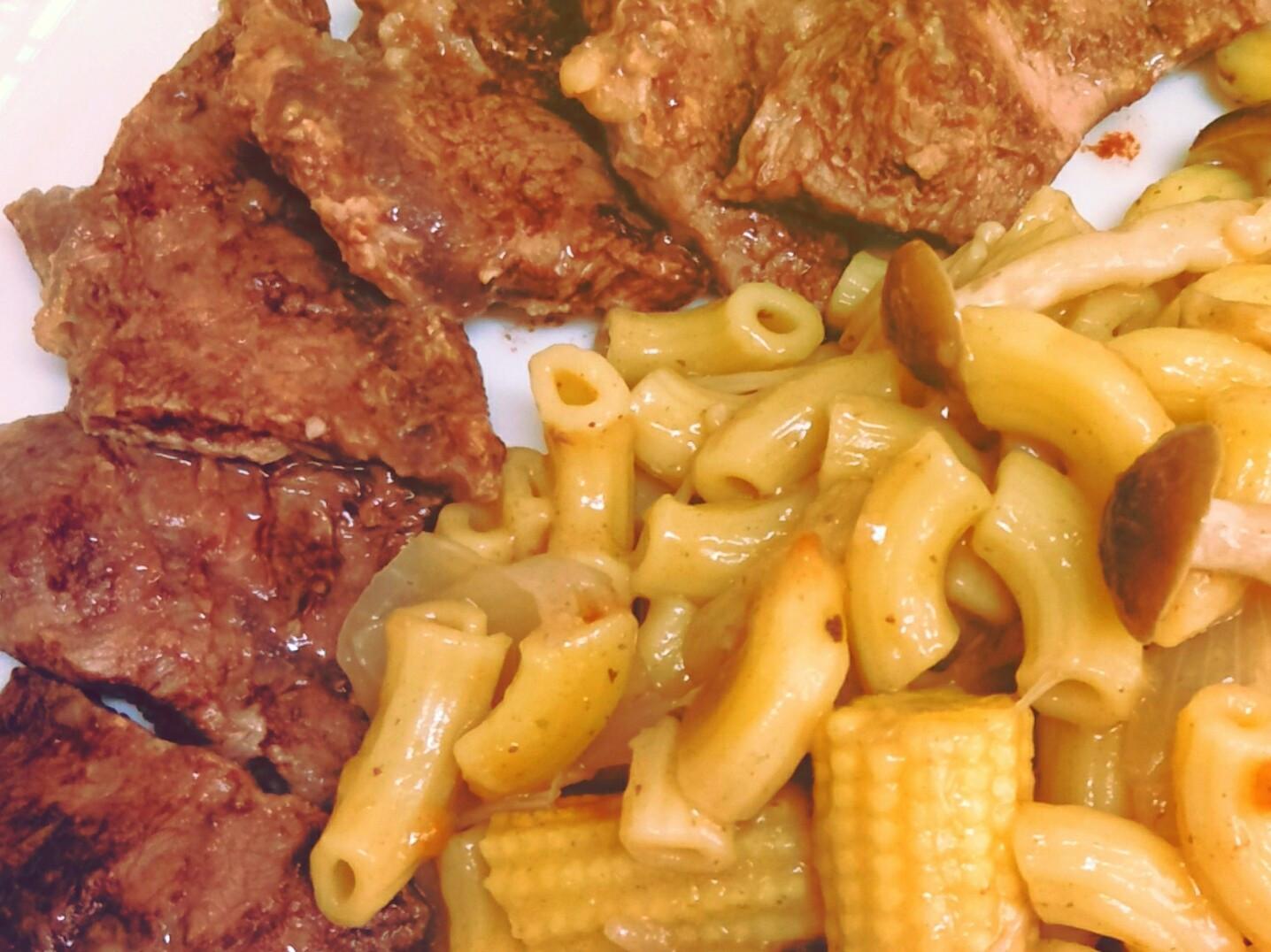 牛肉菇菇通心麵