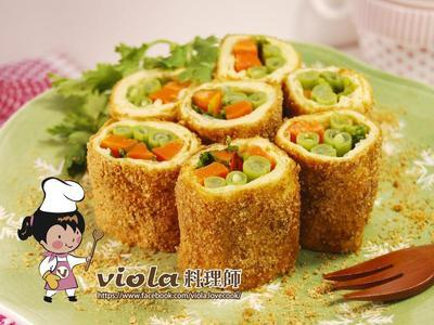 香菜豆皮蔬食捲