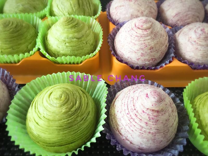 🍵抹茶&紫芋螺旋蛋黃酥