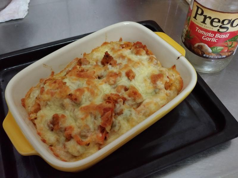 焗烤番茄肉醬天使麵-普格義大利麵醬