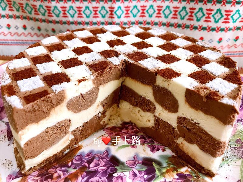 棋格造型冰淇淋蛋糕(6吋免機、免蛋黃)