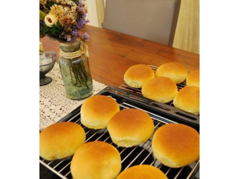 【麵包機】蔓越莓奶酥餐包 (水合法)