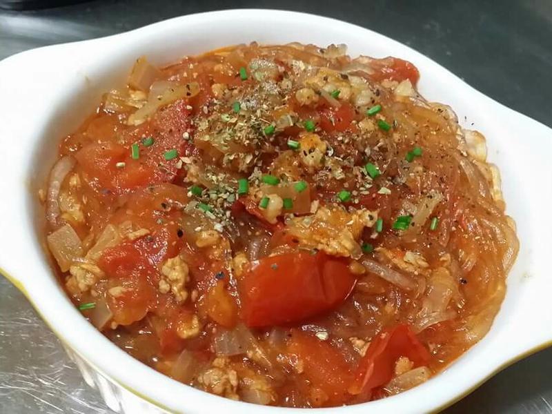 蕃茄肉醬粉絲煲♡
