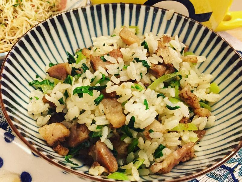 鹹豬肉菜飯(變形簡化;簡單不失敗新手菜)