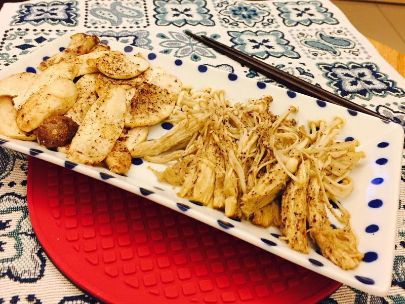香烤雙菇(簡單快速不失敗新手料理)