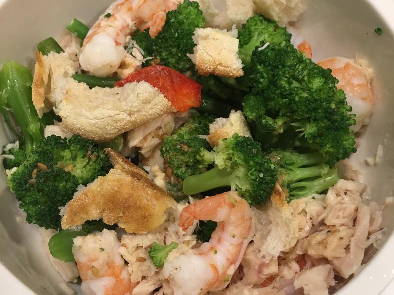 高蛋白「胡麻鮪魚蝦拌馬芬蔬菜」380卡