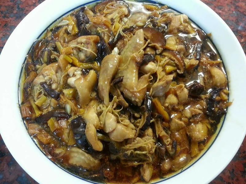 金針木耳香菇蒸雞肉
