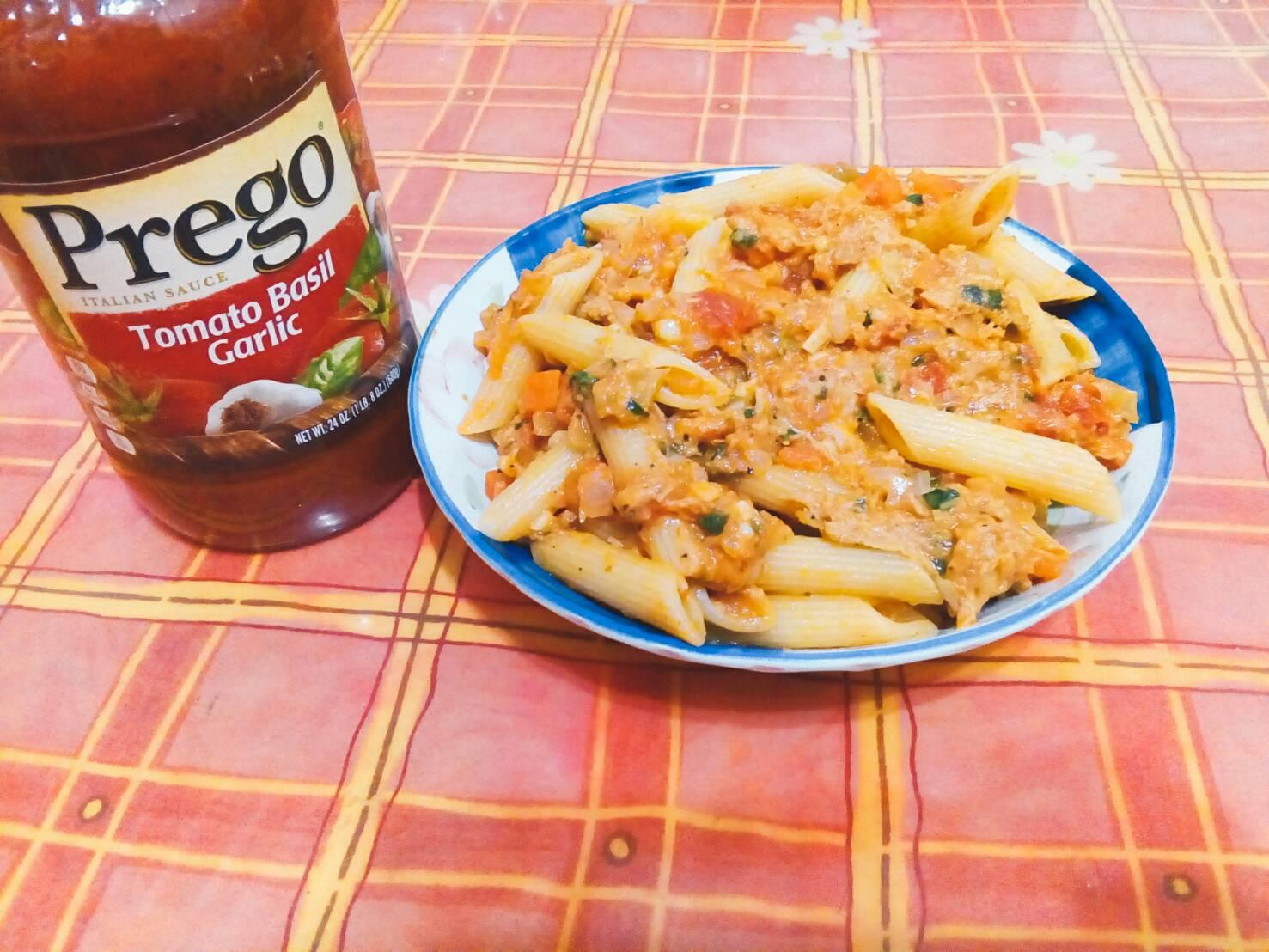 番茄鮪魚筆管麵【Prego義大利麵醬】