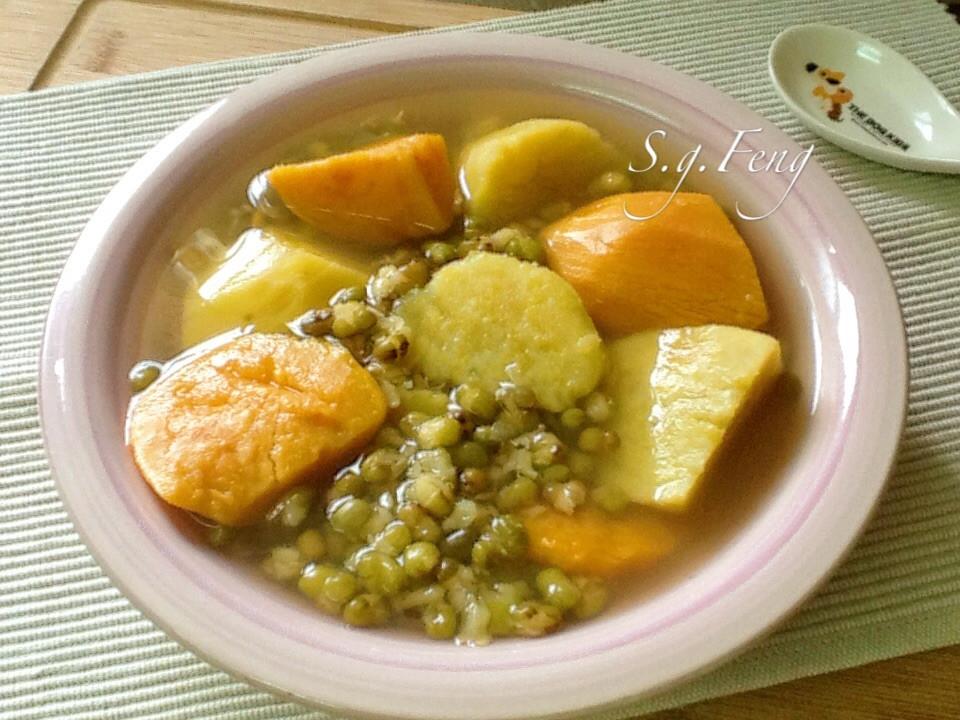 雙色地瓜綠豆湯