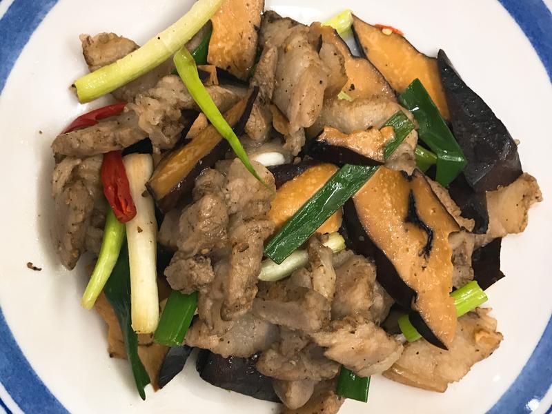 お弁当-170831-鹹香肉片炒豆乾