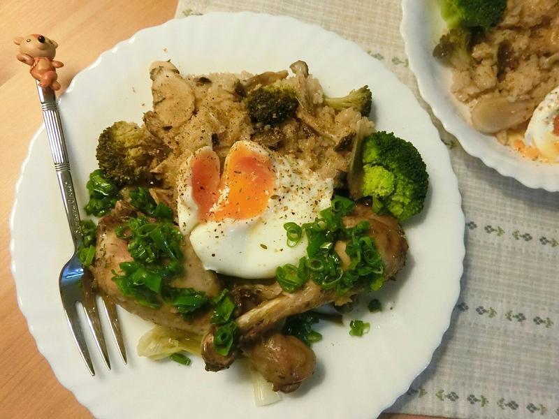 速成雞腿🍗菇菇🍄燉飯
