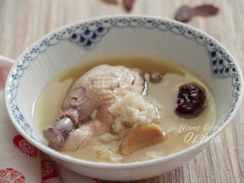 小廚娘❤韓式蔘雞湯#電鍋