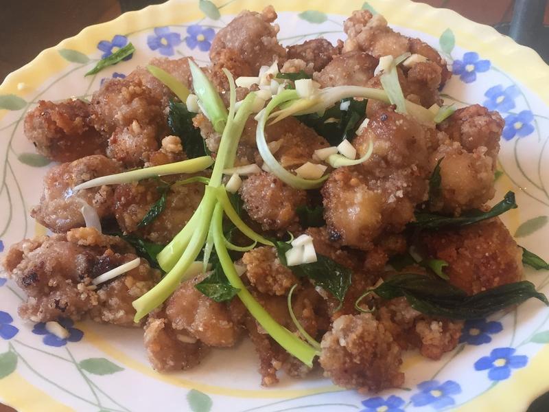 九層塔蒜味鹽酥雞(雞腿肉)