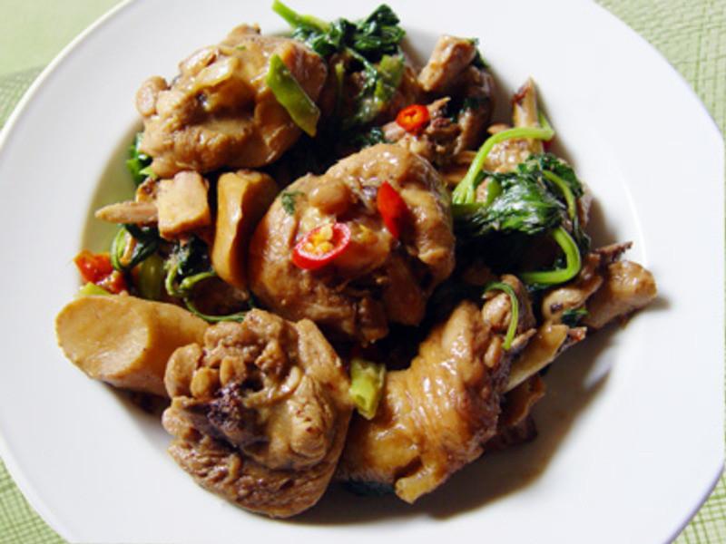 【厚生廚房】三杯杏鮑菇雞肉