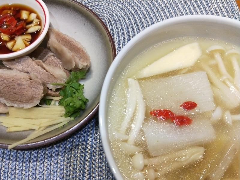 【一鍋二食】山藥菇菇湯與燙二層肉