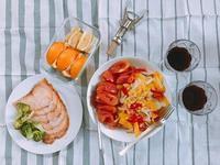 鮭魚烤蔬菜
